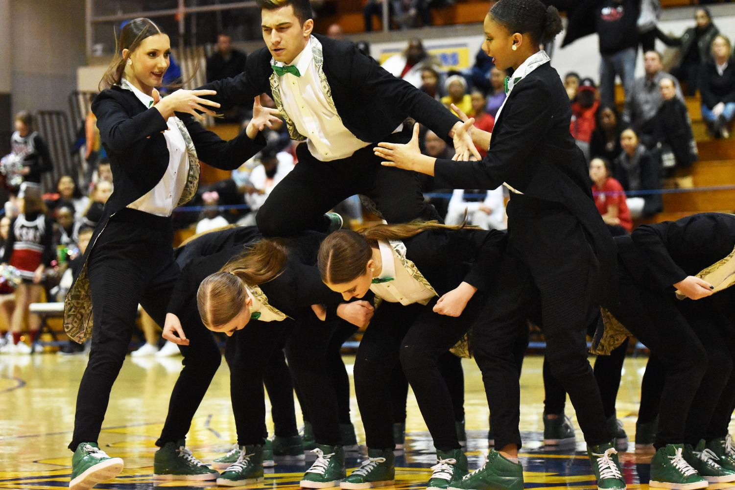 The Hip Hop team preformed a routine  at the Spring Arts Convocation on April 12.